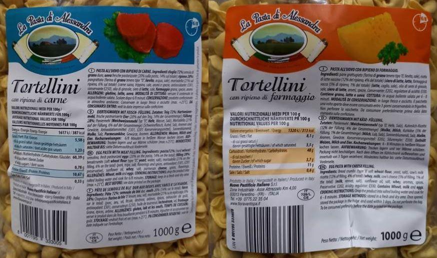 Recalled pasta