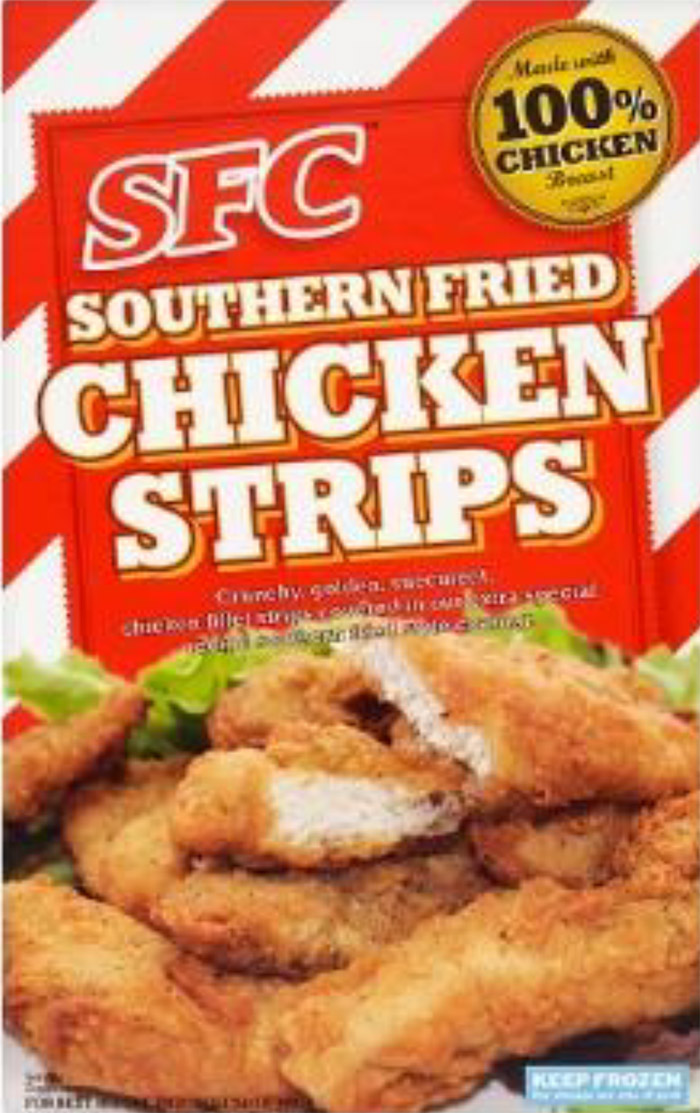 SFC Southern Fried Chicken Strips 400g chicken pieces